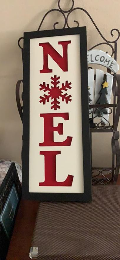 Getting in the holiday spirit - painted NOEL sign